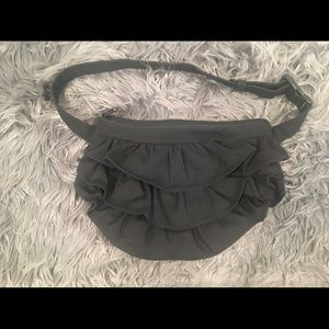 Handbags - Kinies Black Ruffled Fanny pack (Sweater INCL)